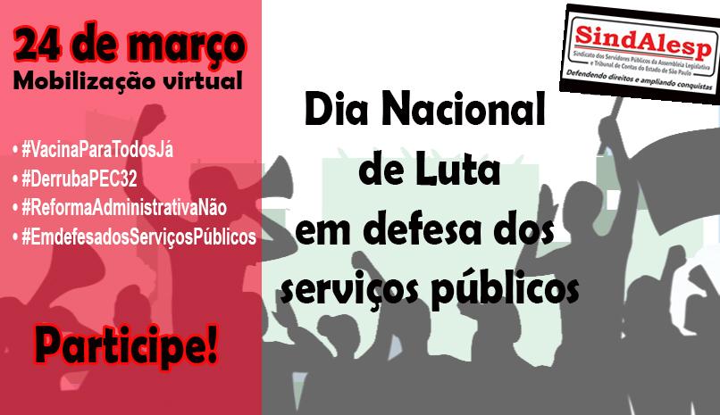 Dia 24 tem mobilização virtual