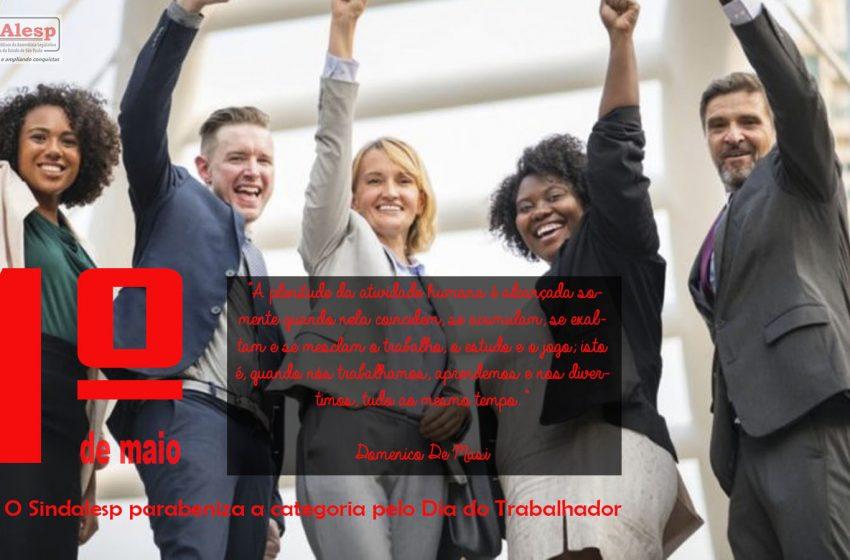 Sindalesp  parabeniza trabalhadores(as) e deseja dias melhores para todos(as)