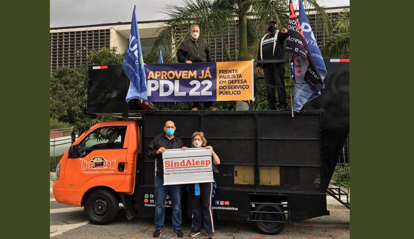 SINDALESP participa de mobilização a favor do PDL 22
