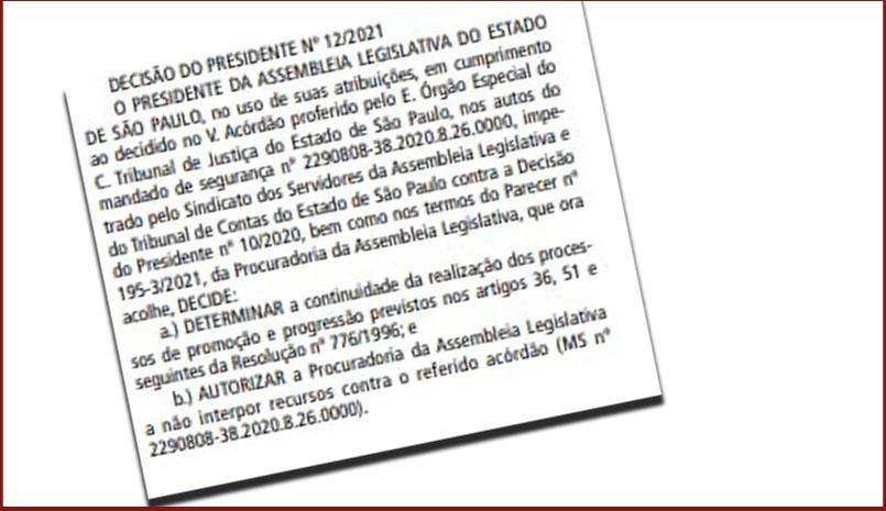 Mais uma vitória do SINDALESP: Alesp inicia cumprimento imediato da  determinação da Justiça
